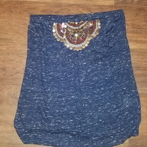 Maurices blue tube top size small